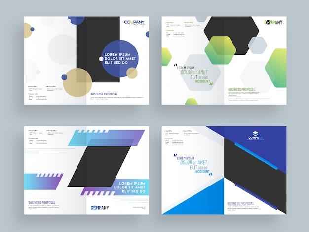 Projeto de proposta empresarial criativa, layout de modelo corporativo