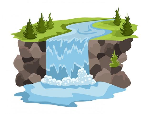 Projeto de recursos naturais. ilustração da água do tesouro nacional. ilustração da indústria alternativa de enrgy