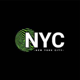 Projeto de redação da cidade de nova york, adequado para serigrafia de camisetas, roupas, jaquetas e outros