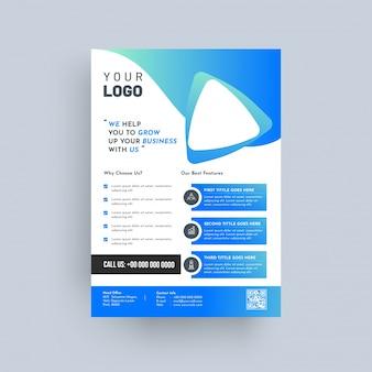 Projeto de relatório anual, capa, folhetos de modelo vetorial, folhetos, apresentações ou folheto