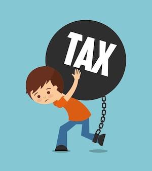 Projeto de responsabilidade fiscal, gráfico de vetor ilustração eps10