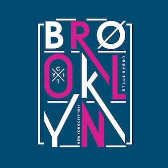 Projeto de rotulação de brooklyn vector camiseta
