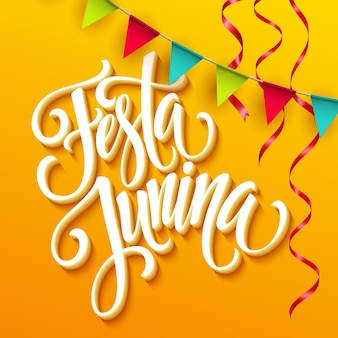 Projeto de saudação de festa festa junina.