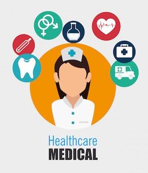 Projeto de saúde médico.