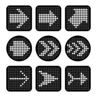 Projeto de setas sobre ilustração vetorial de fundo branco