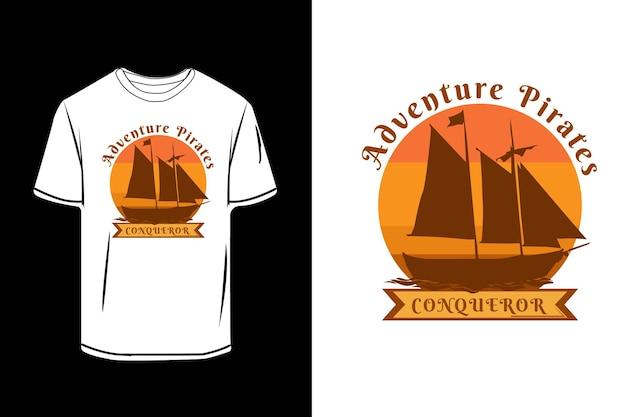 Projeto de silhueta retrô de piratas de aventura