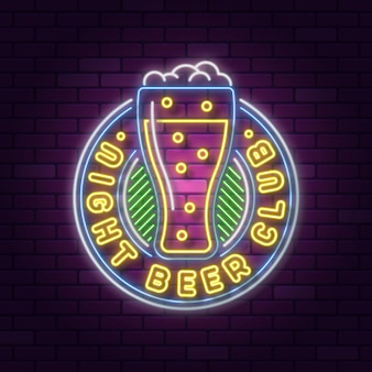 Projeto de sinalização de pub e restaurante de néon