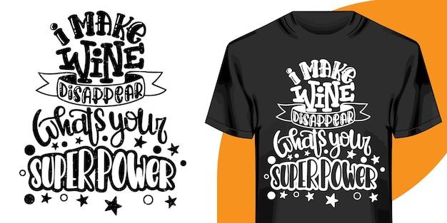 Projeto de t-shirt de palavras motivacionais. design de t-shirt de letras desenhadas à mão. citação, design de t-shirt de tipografia Vetor Premium
