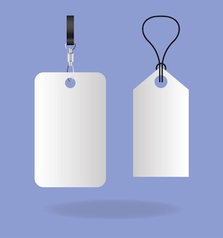 Projeto de tags de rótulos de maquete de modelo de identidade corporativa e tema de marca