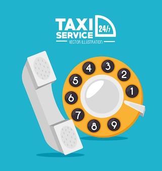 Projeto de táxi, ilustração vetorial.