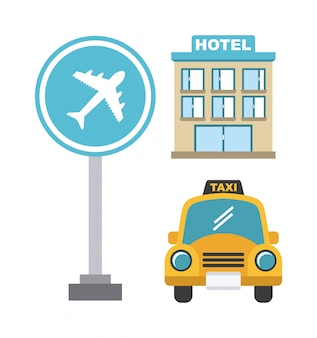 Projeto de táxi sobre ilustração de backgroundvector branco