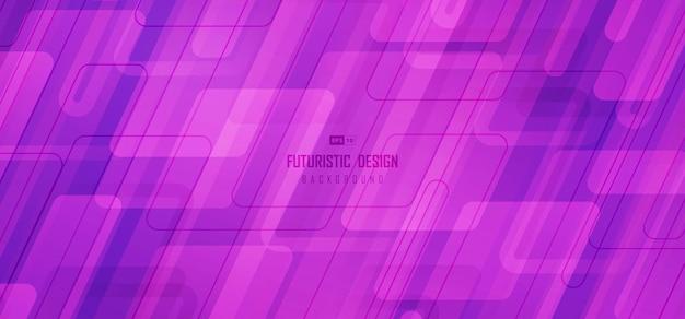 Projeto de tecnologia abstrata do modelo de estilo magenta de retângulo. sobreposição com fundo quadrado de tecnologia de linha