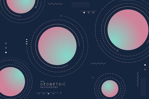 Projeto de tecnologia abstrato geométrico do modelo de elementos de arte mínima. espaço de cobertura para plano de fundo do modelo futurista.