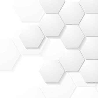 Projeto de tecnologia de hexágonos cinza abstrato. fundo do vetor