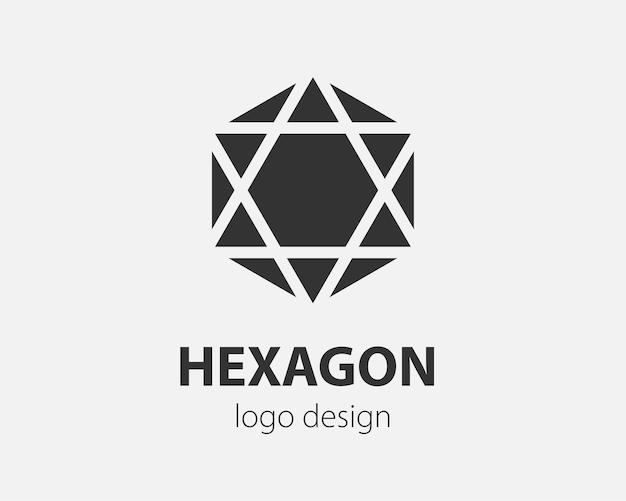 Projeto de tecnologia do hexágono do vetor do logotipo da tendência. logotipo da tecnologia para sistema inteligente