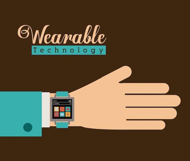 Projeto de tecnologia smartwatch, ilustração vetorial.