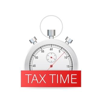 Projeto de tempo de imposto, prazo, planejamento.