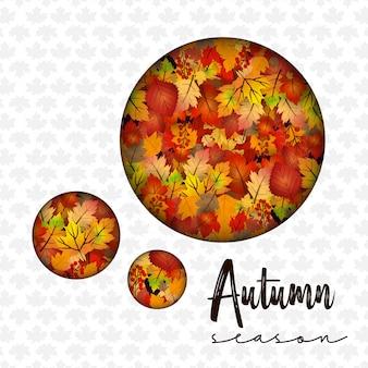 Projeto de temporada de outono com vetor de luz de fundo