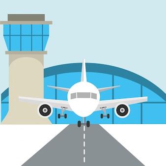 Projeto de terminal de aeroporto