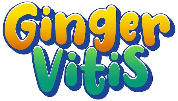 Projeto de texto do logotipo de ginger vitis