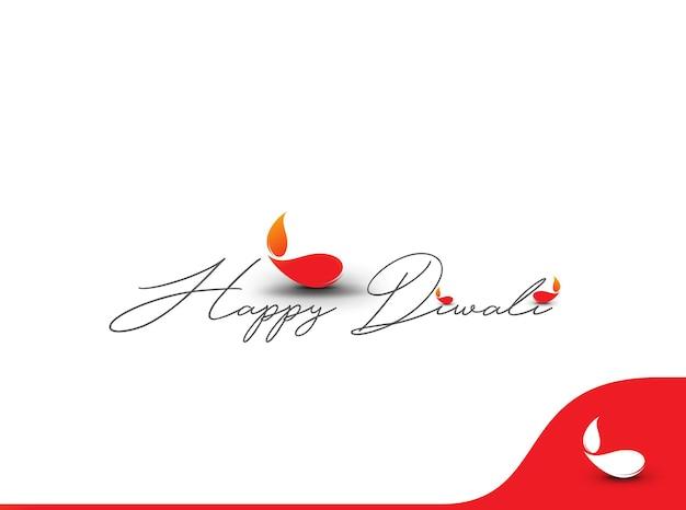 Projeto de texto feliz diwali. ilustração abstrata do vetor.