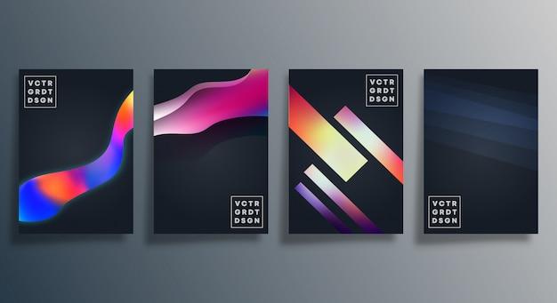 Projeto de textura gradiente colorida para papel de parede, folheto, cartaz, capa de brochura, plano de fundo, cartão, tipografia ou outros produtos de impressão. ilustração vetorial