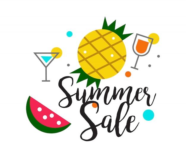 Projeto de título de venda de verão para banner ou cartaz