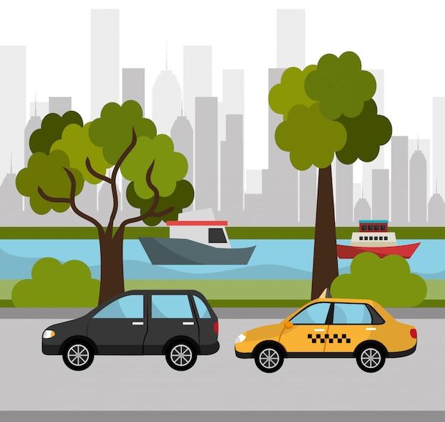 Projeto de transporte da cidade.