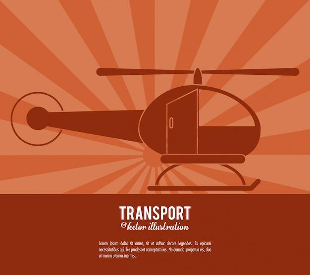 Projeto de transporte de helicóptero de transporte