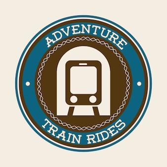 Projeto de trem sobre ilustração vetorial de fundo branco