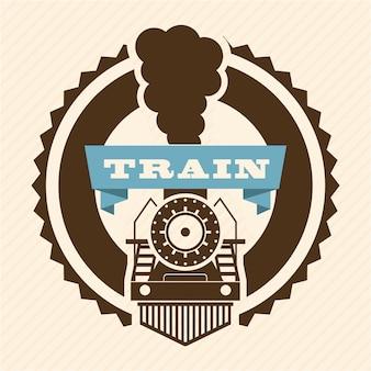 Projeto de trem sobre ilustração vetorial de fundo rosa