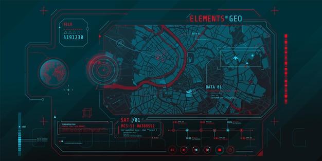 Projeto de uma interface de software futurística para rastrear a posição geográfica
