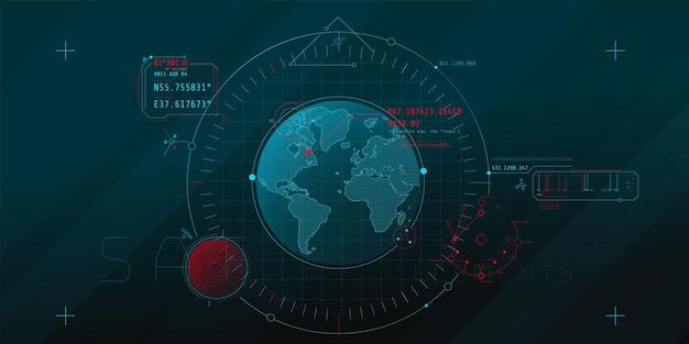 Projeto de uma interface de software futurística para rastrear um objeto no planeta