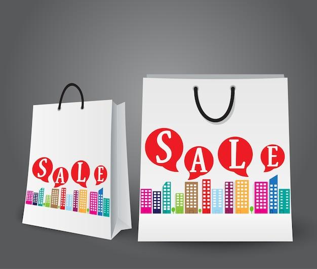 Projeto de venda com sacolas de compras