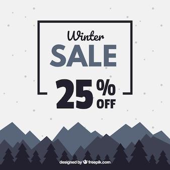 Projeto de venda de inverno preto e branco