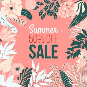 Projeto de venda verão colorido