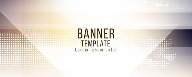 Projeto de vetor abstrato elegante banner