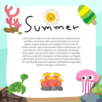 Projeto de vetor de fundo de verão