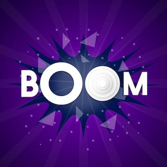Projeto de vetor de ilustração de explosão de boom