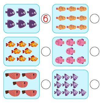 Projeto de vetor de jogo de matemática para criança