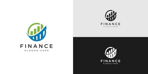 Projeto de vetor de logotipo de finanças empresariais