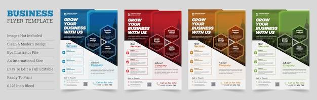 Projeto de vetor de modelo de folheto de negócios corporativos modelo de folheto forma geométrica