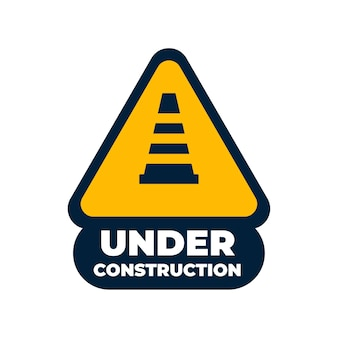 Projeto de vetor de sinal de construção