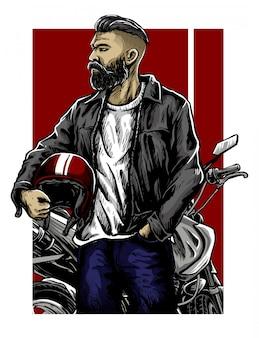 Projeto de vetor de vida de motociclistas