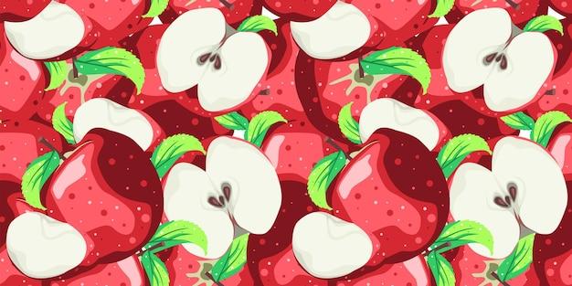 Projeto de vetor padrão sem emenda da apple