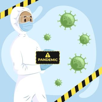 Projeto de vírus do conceito pandêmico