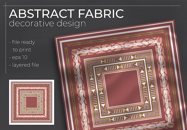 Projeto decorativo abstrato da tela com zombaria realista para a produção de impressão. hijab, cachecol, travesseiro, etc.