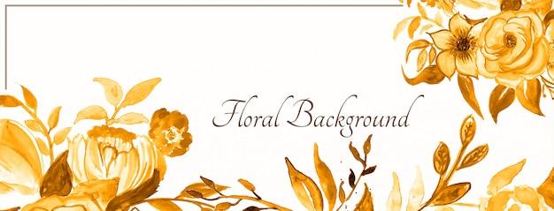 Projeto decorativo lindo banner floral