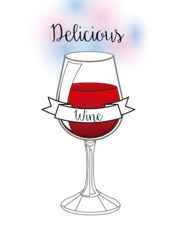Projeto delicioso bebida, ilustração vetorial eps10 gráfico