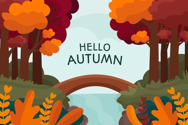 Projeto desenhado mão de fundo outono